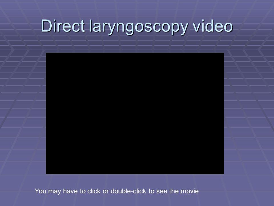 Direct laryngoscopy video