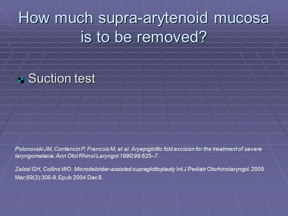 How much supra-arytenoid mucosa is to be removed