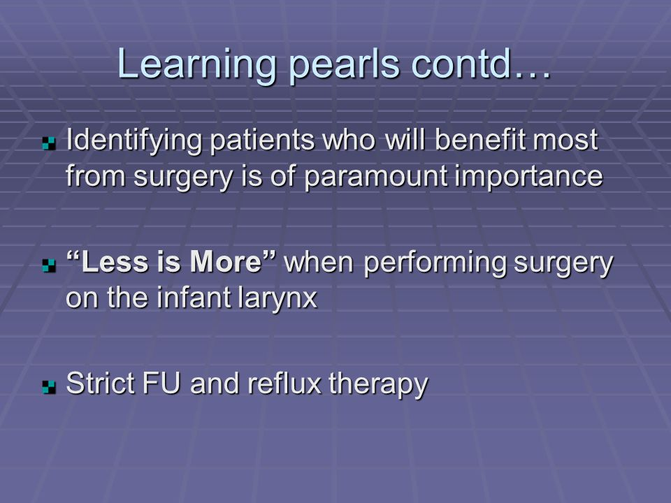 Learning pearls contd…
