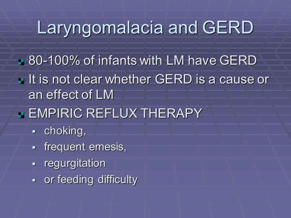Laryngomalacia and GERD