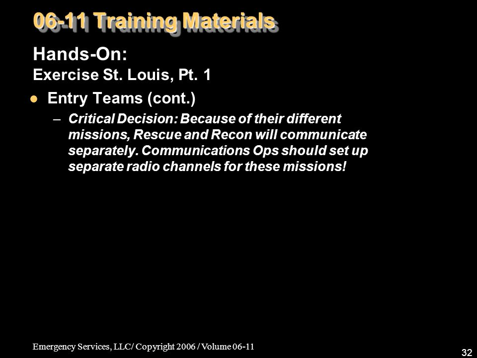 06-11 Training Materials Hands-On: Exercise St. Louis, Pt. 1