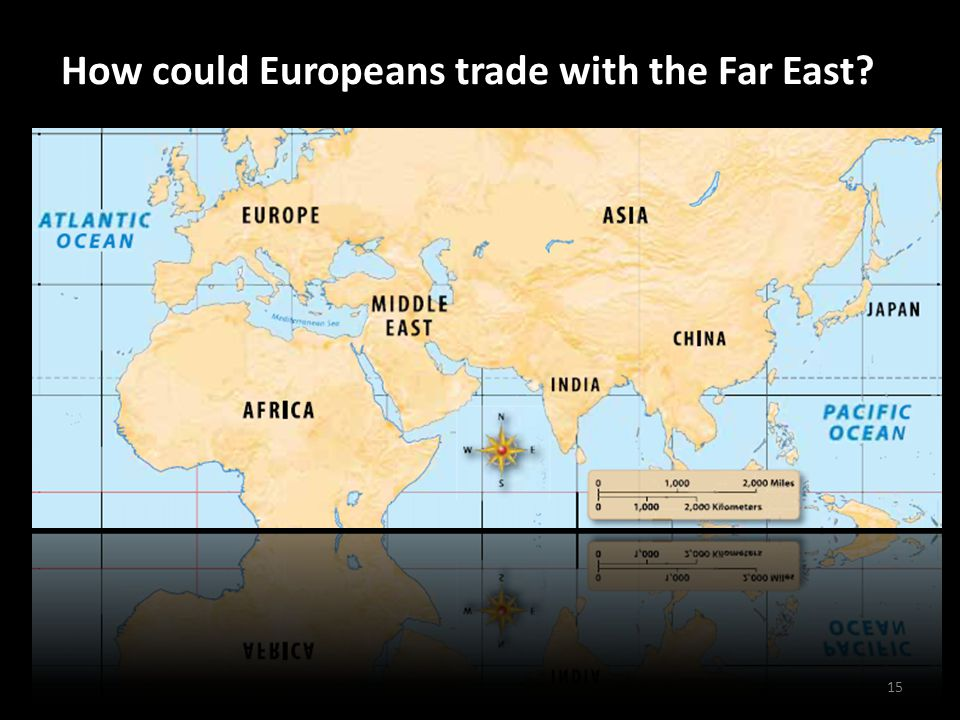 How could Europeans trade with the Far East