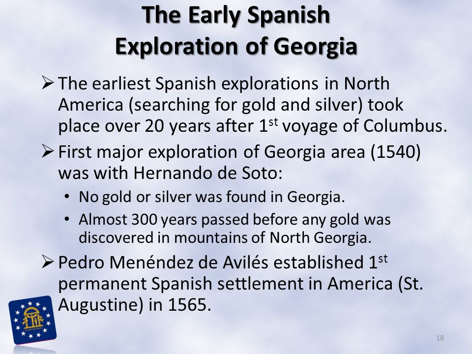 The Early Spanish Exploration of Georgia