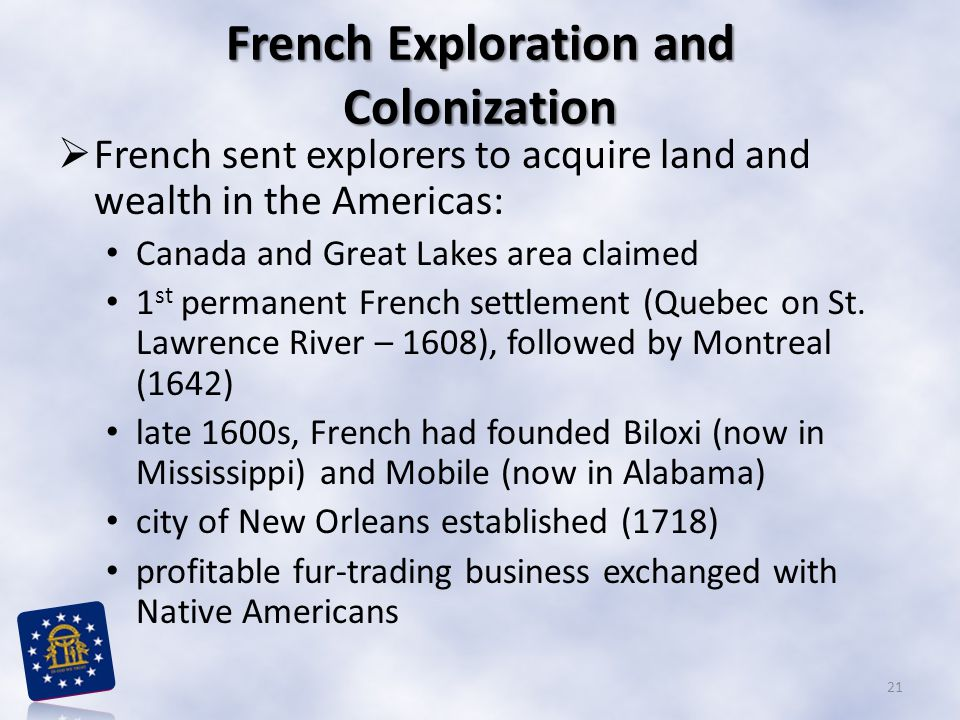 French Exploration and Colonization