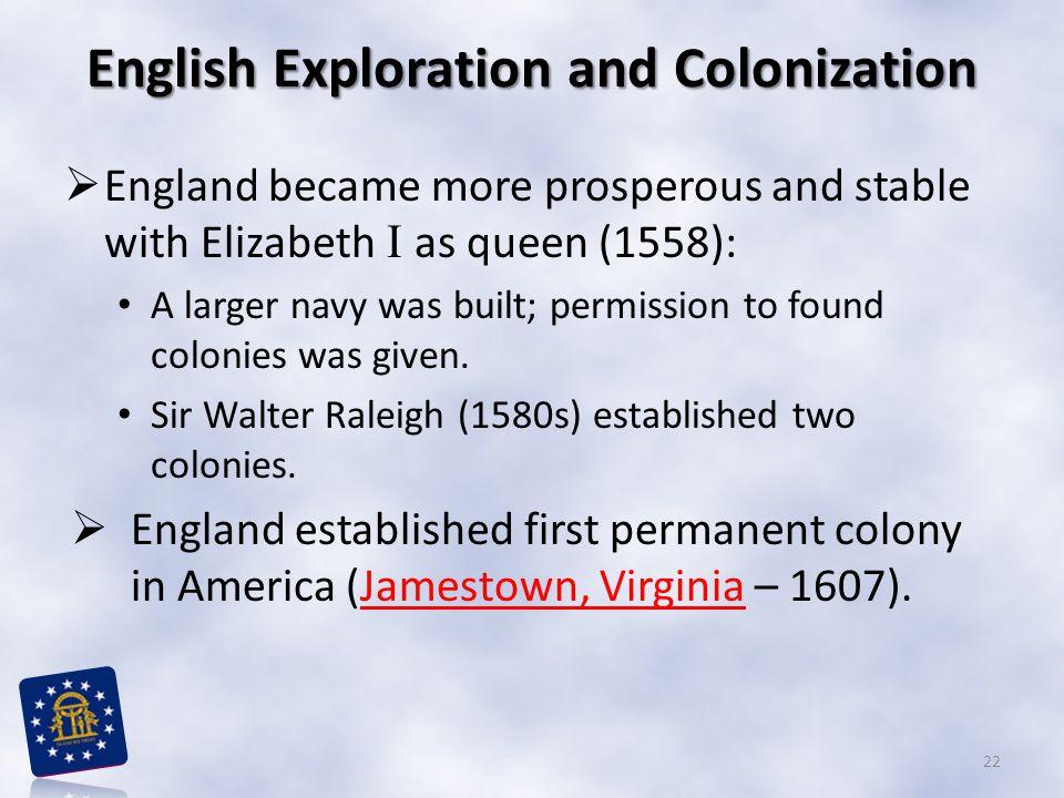 English Exploration and Colonization