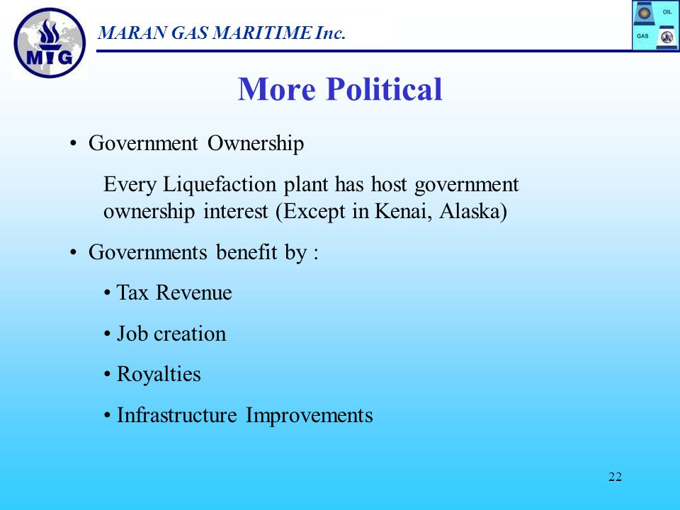 More Political Government Ownership