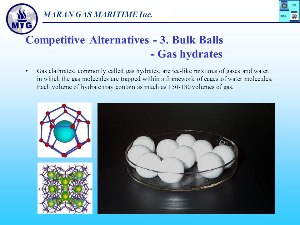 Competitive Alternatives - 3. Bulk Balls - Gas hydrates