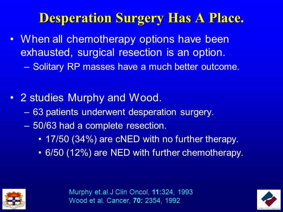 Desperation Surgery Has A Place.