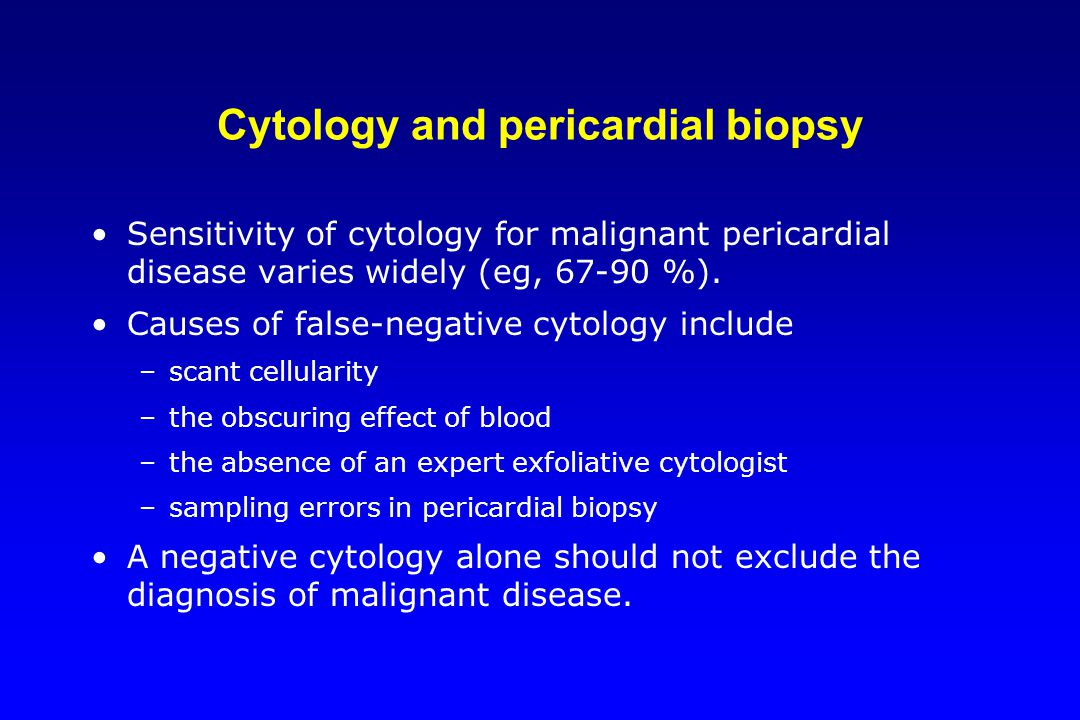 Cytology and pericardial biopsy