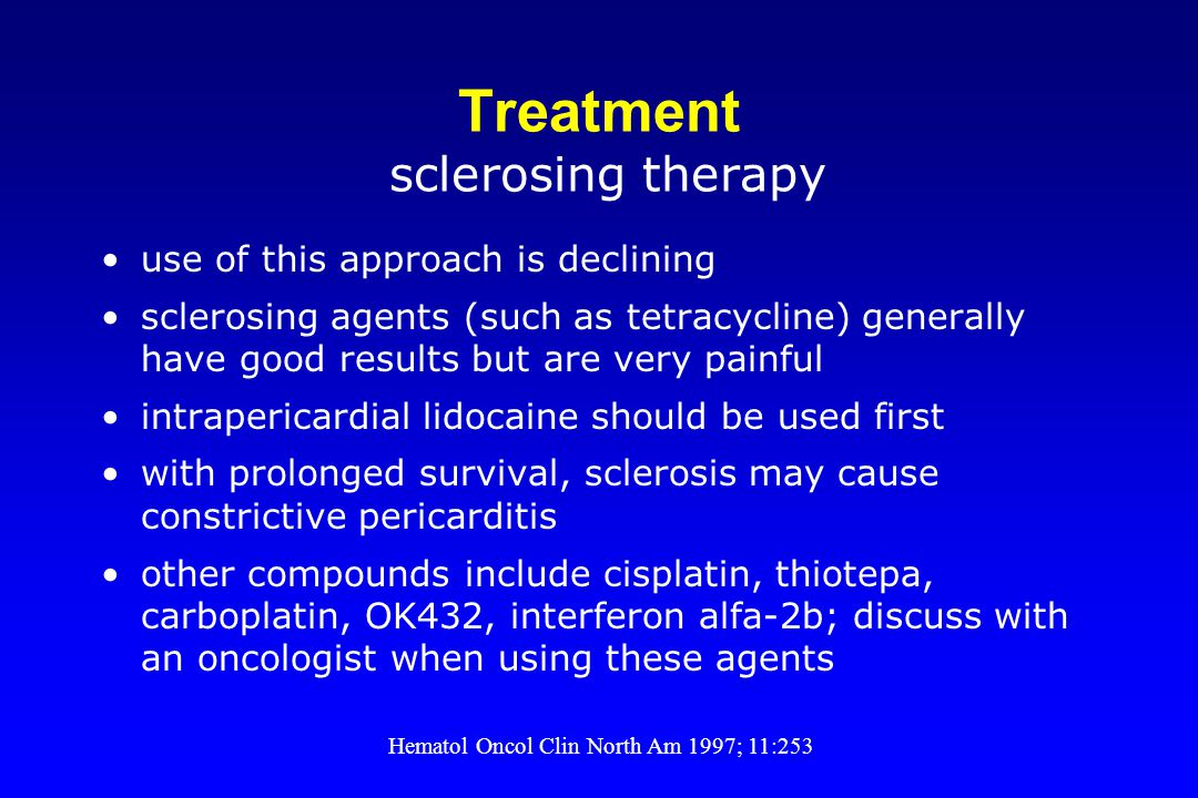 Treatment sclerosing therapy
