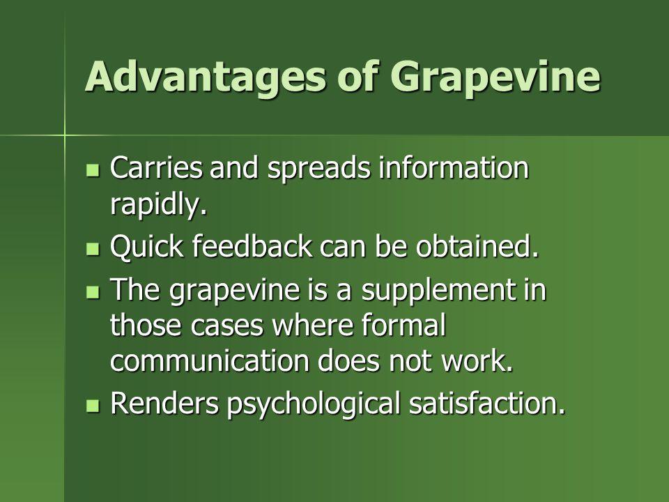 Advantages of Grapevine