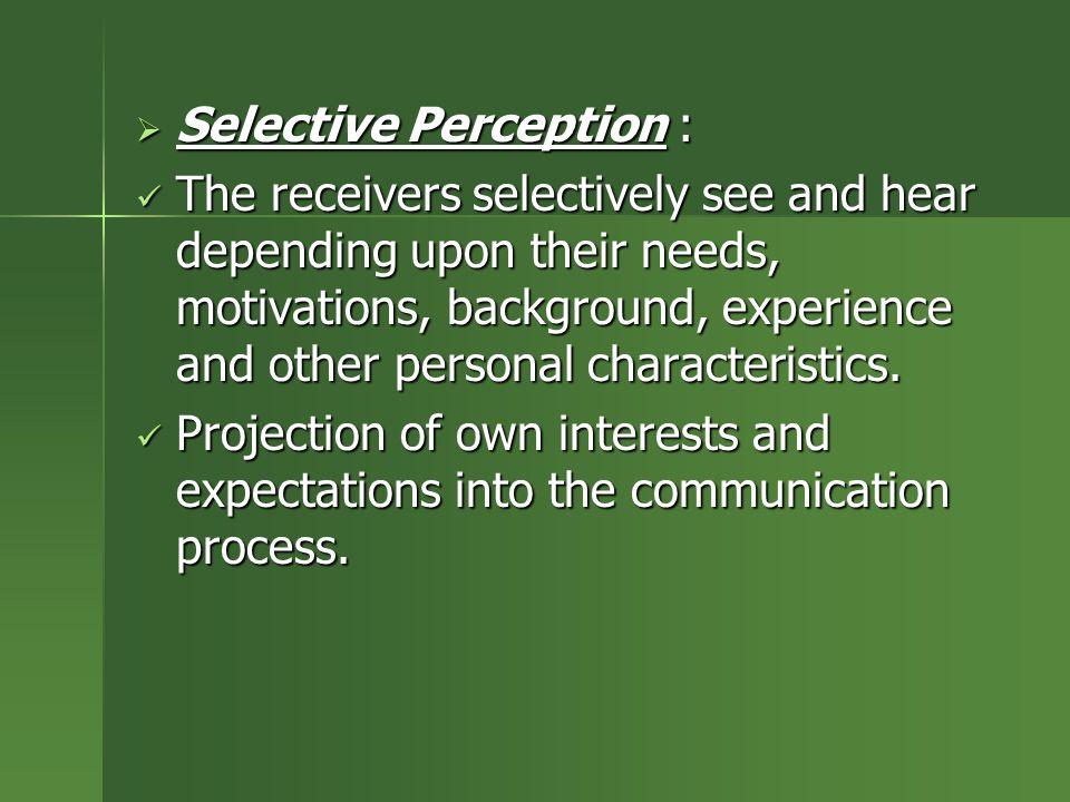Selective Perception :
