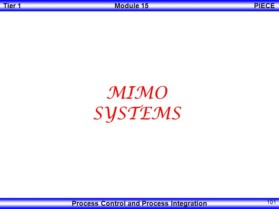 MIMO SYSTEMS