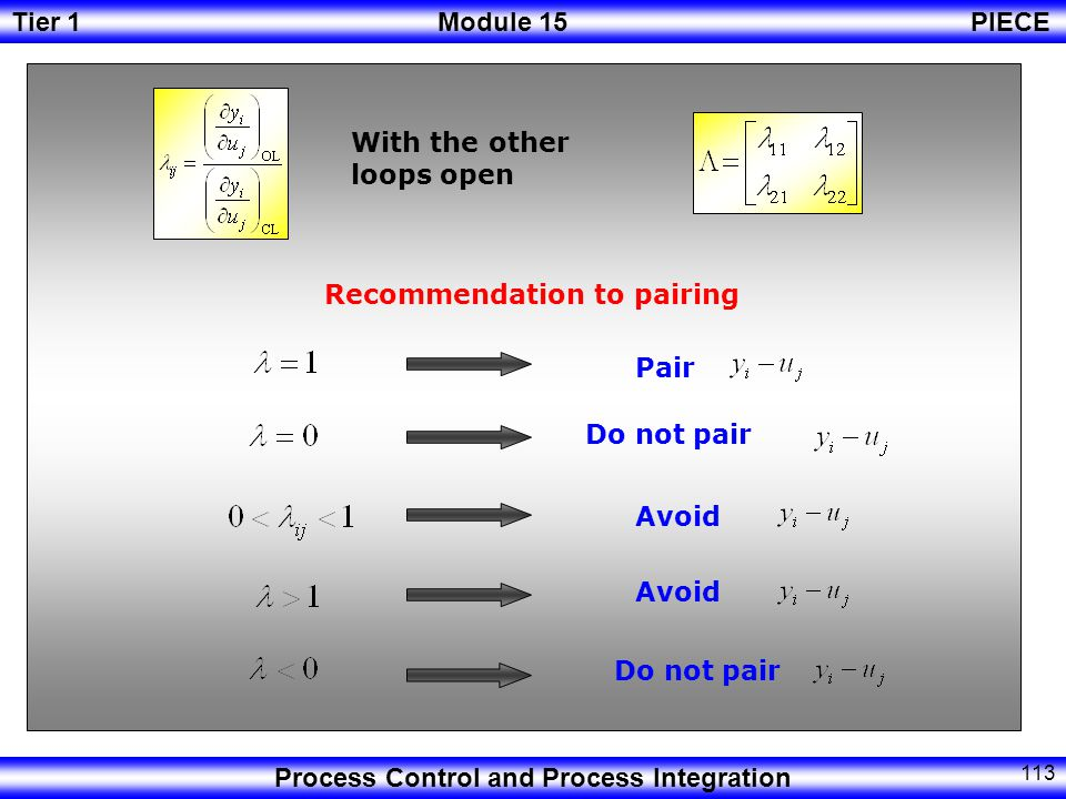 Recommendation to pairing