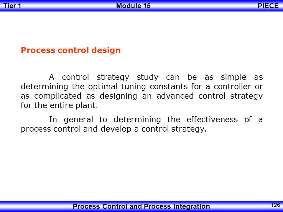 Process control design