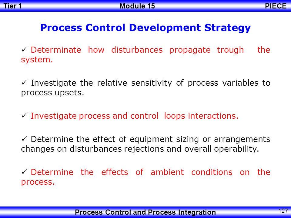 Process Control Development Strategy