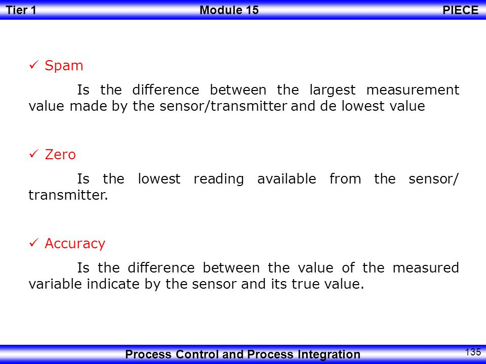 Spam Is the difference between the largest measurement value made by the sensor/transmitter and de lowest value.