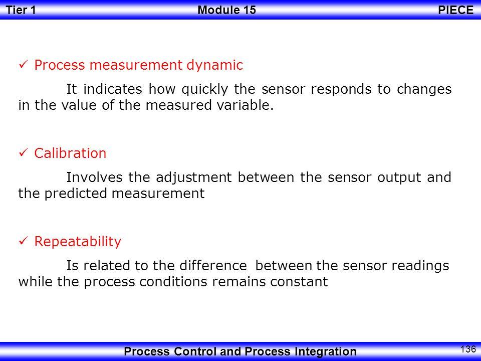 Process measurement dynamic