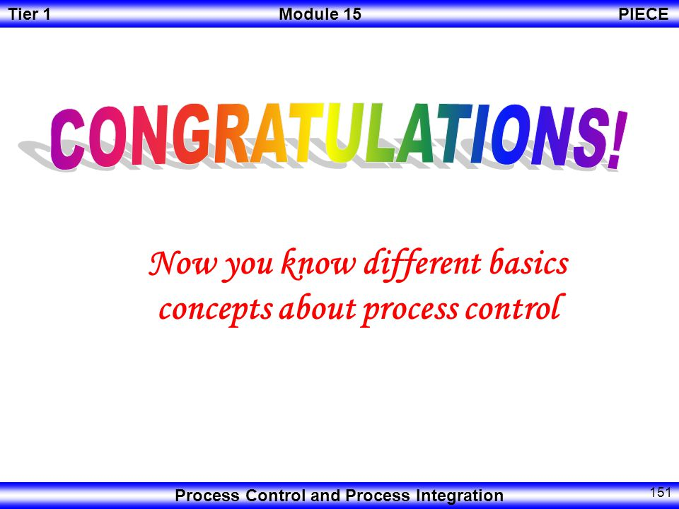 Now you know different basics concepts about process control