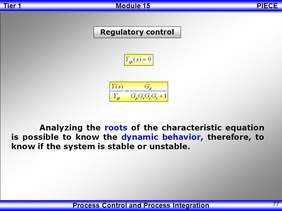 Regulatory control