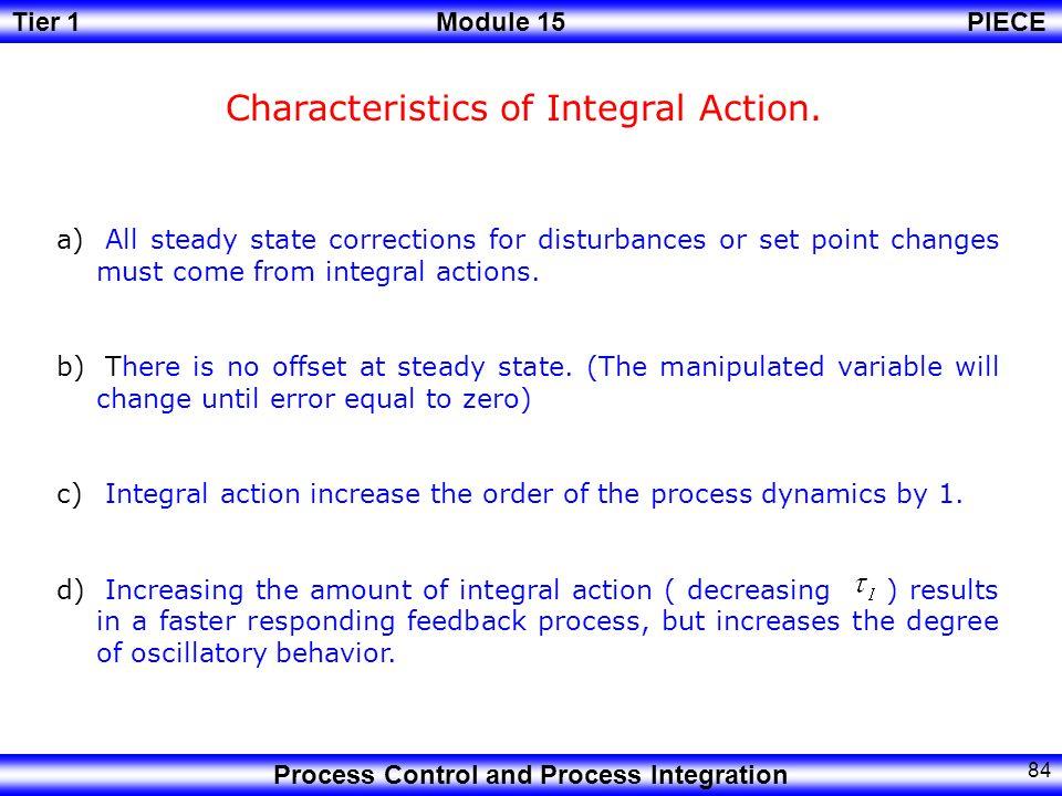 Characteristics of Integral Action.