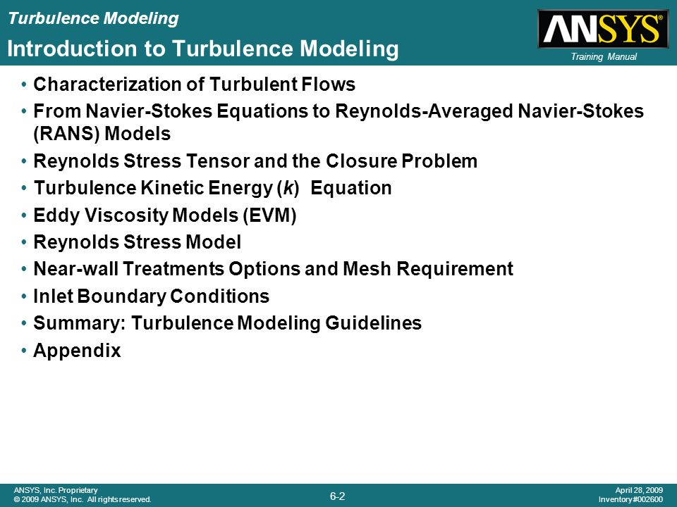 Introduction to Turbulence Modeling