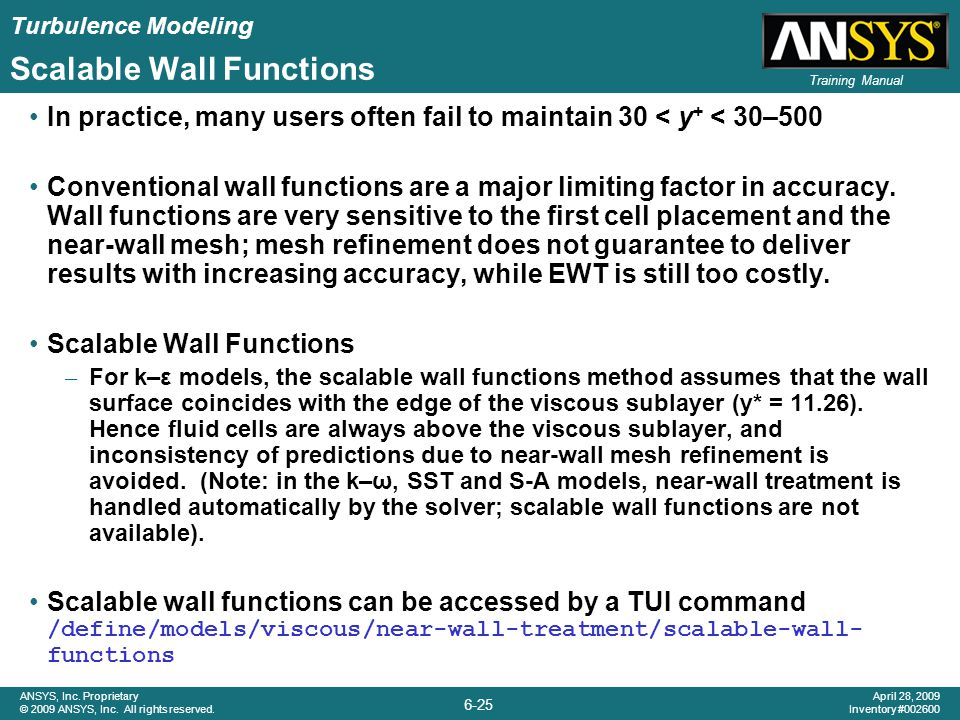 Scalable Wall Functions