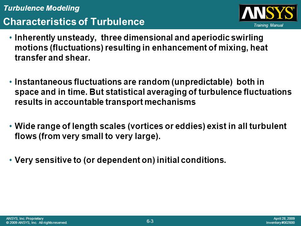 Characteristics of Turbulence