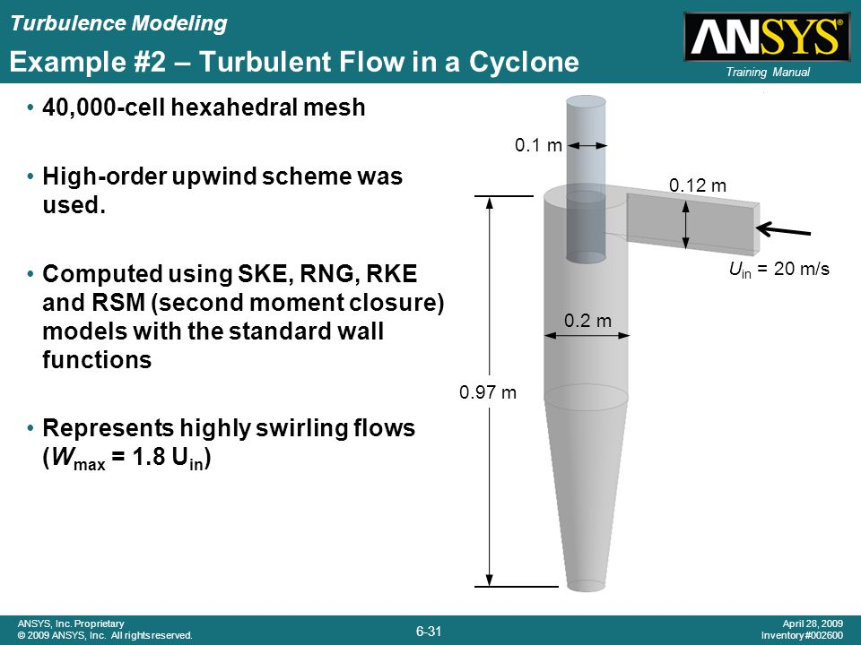 Example #2 – Turbulent Flow in a Cyclone