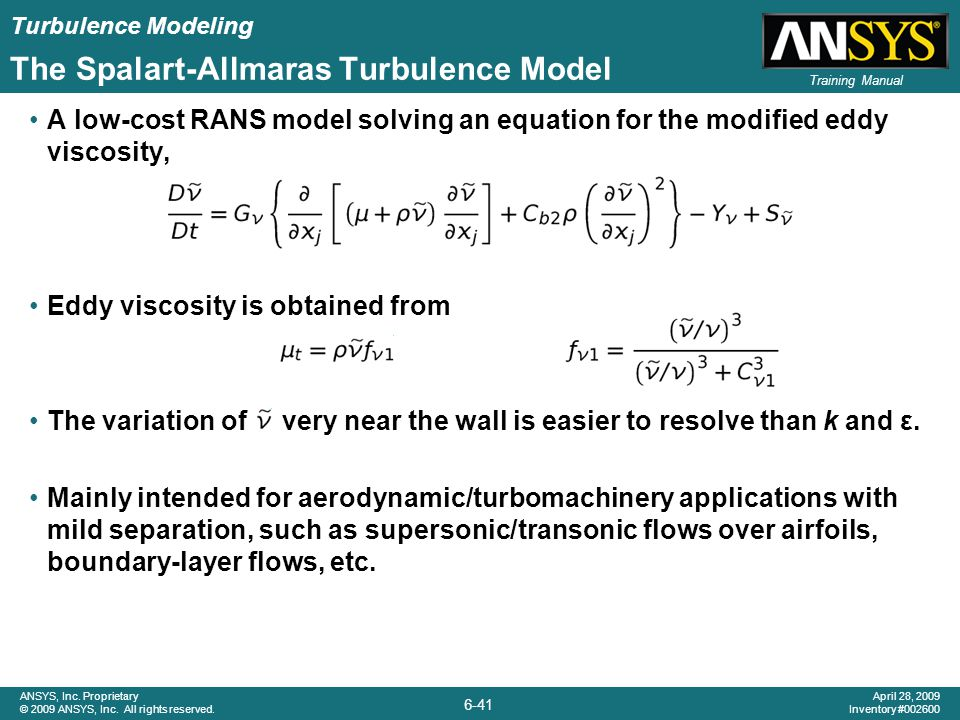 The Spalart-Allmaras Turbulence Model
