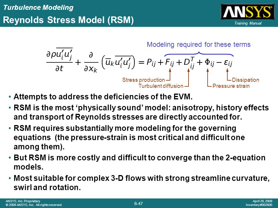 Reynolds Stress Model (RSM)