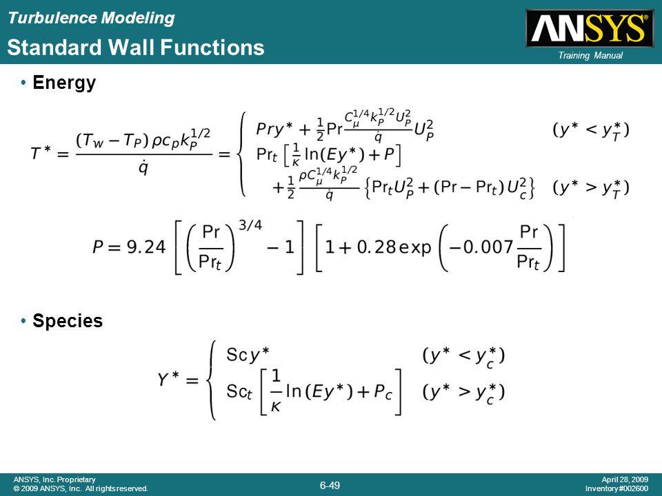 Standard Wall Functions