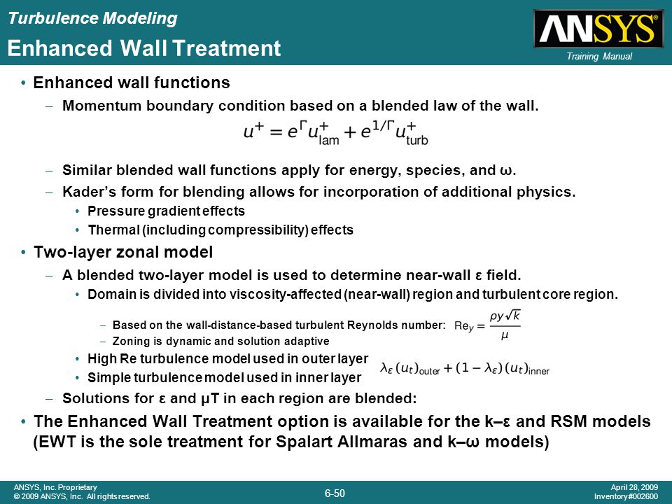 Enhanced Wall Treatment