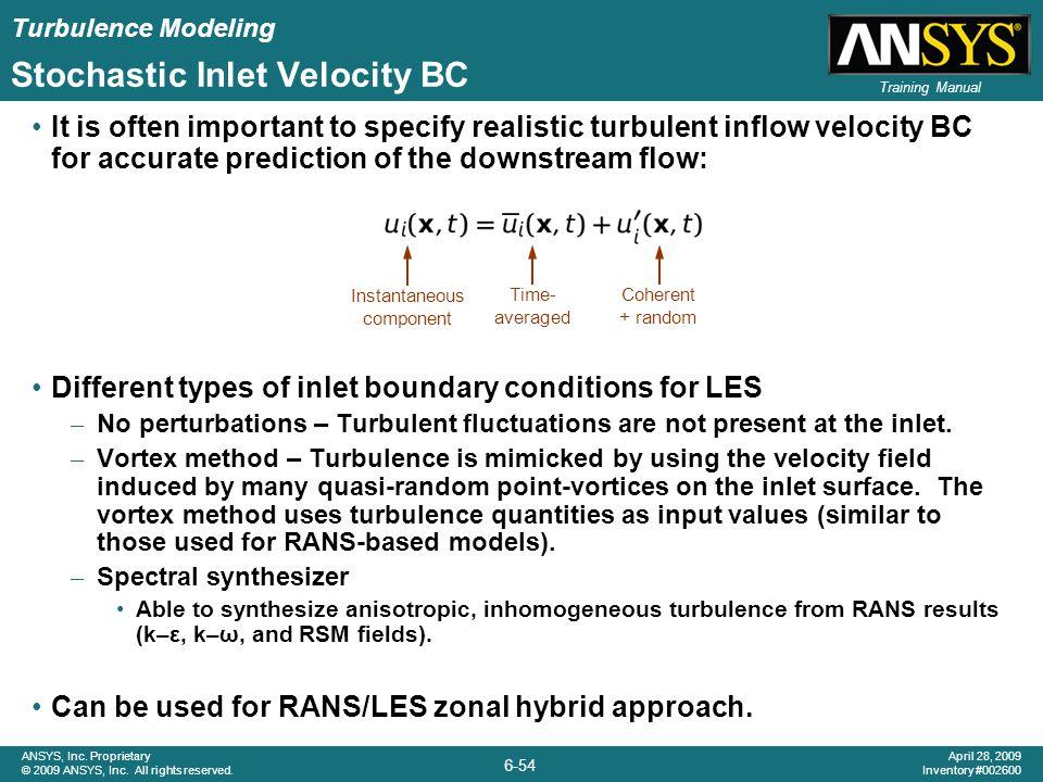 Stochastic Inlet Velocity BC