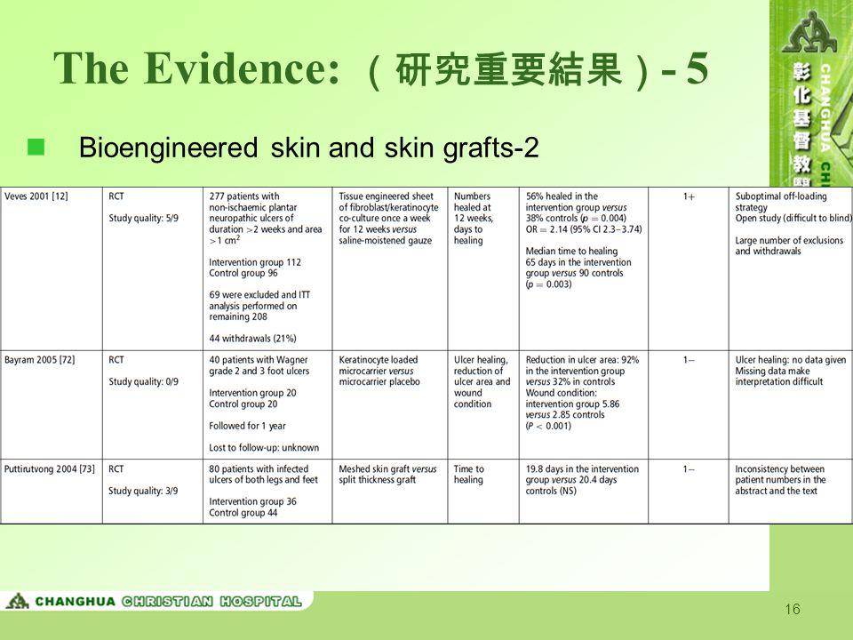 The Evidence: (研究重要結果)- 5