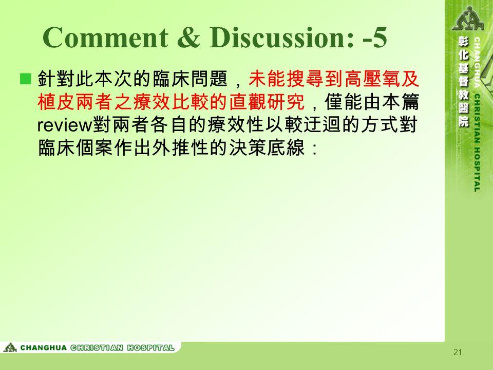 Comment & Discussion: -5