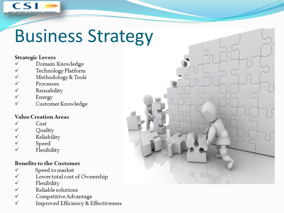 Business Strategy Strategic Levers Domain Knowledge