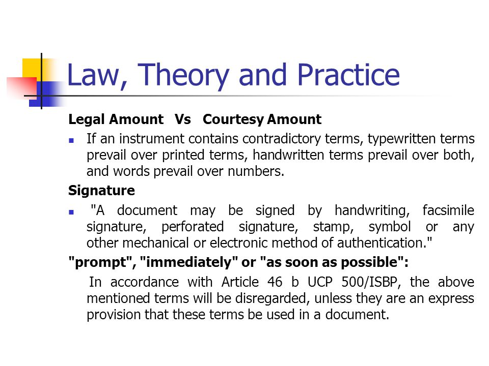 Law, Theory and Practice