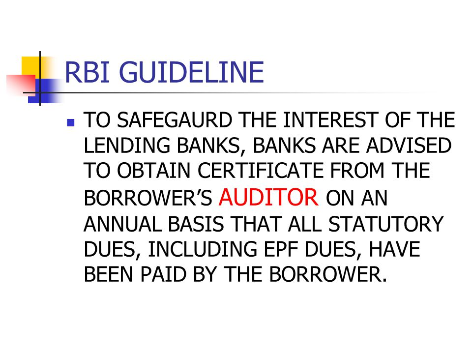 RBI GUIDELINE