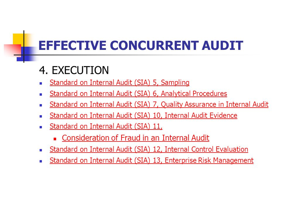 EFFECTIVE CONCURRENT AUDIT