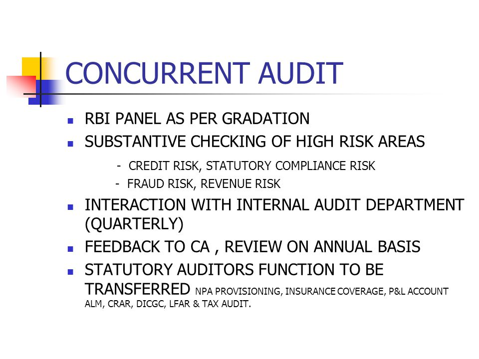 CONCURRENT AUDIT RBI PANEL AS PER GRADATION