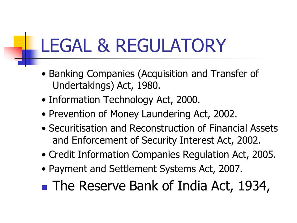 LEGAL & REGULATORY The Reserve Bank of India Act, 1934,