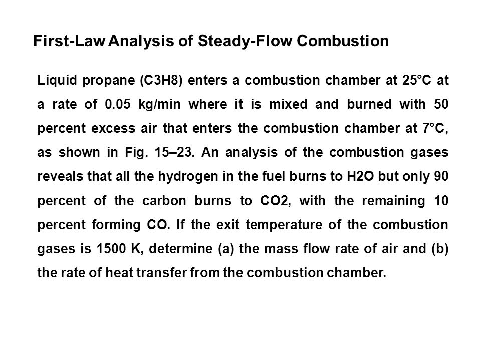 First-Law Analysis of Steady-Flow Combustion