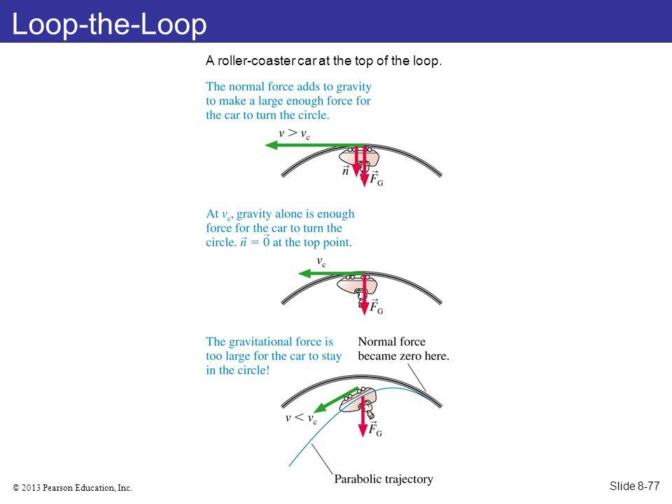 Loop-the-Loop A roller-coaster car at the top of the loop. Slide 8-77