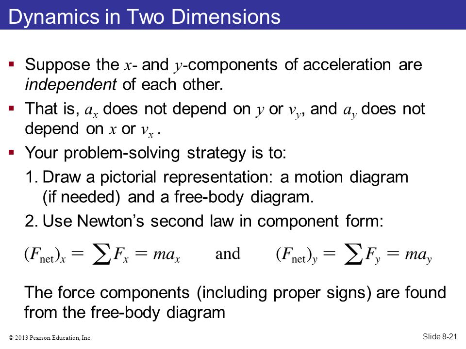Dynamics in Two Dimensions