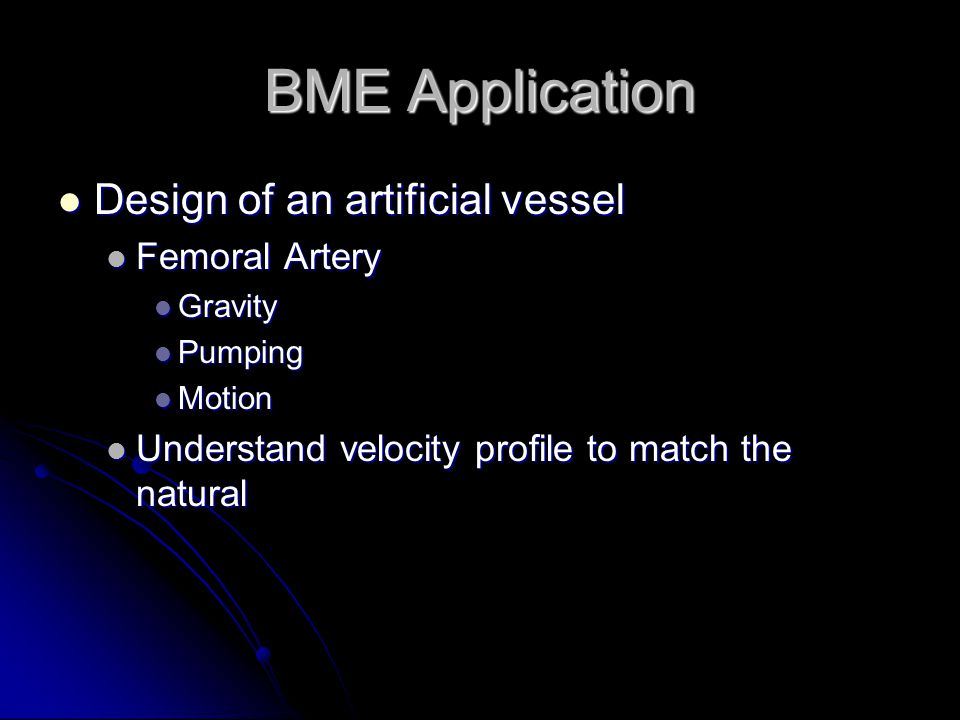 BME Application Design of an artificial vessel Femoral Artery