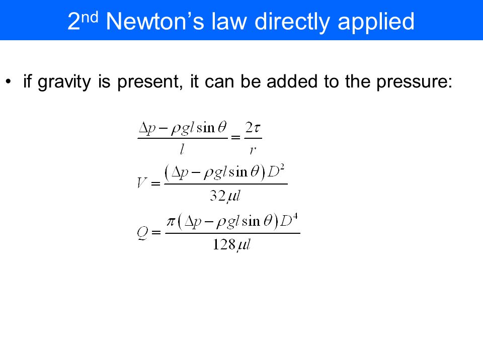 2nd Newton's law directly applied