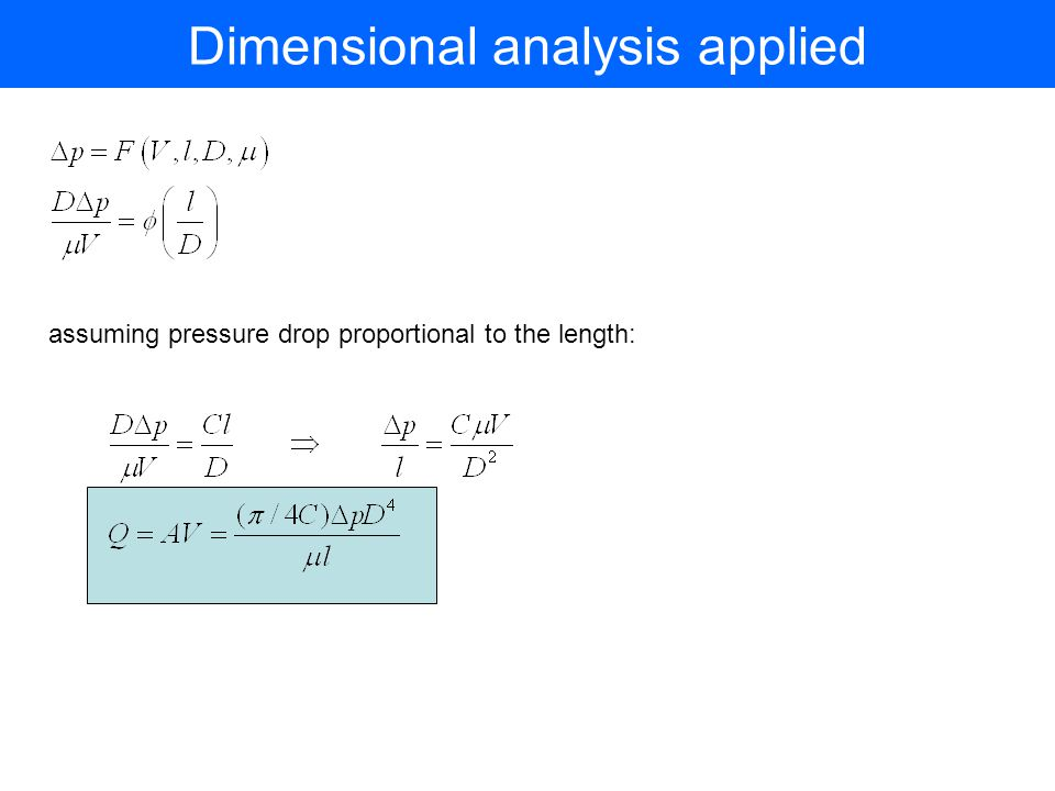 Dimensional analysis applied