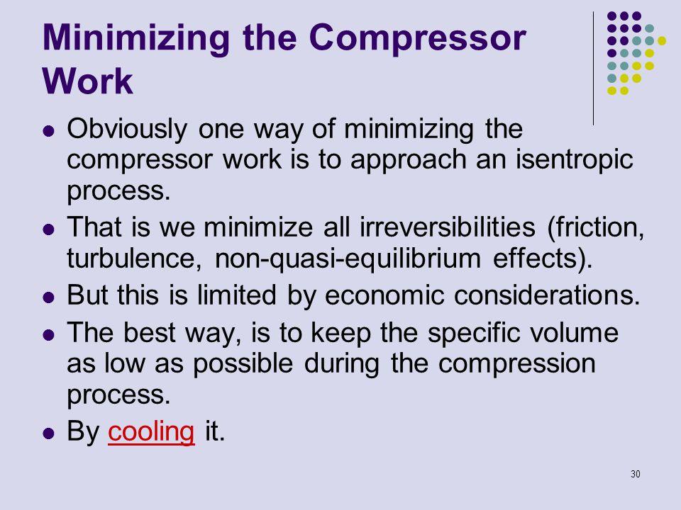Minimizing the Compressor Work