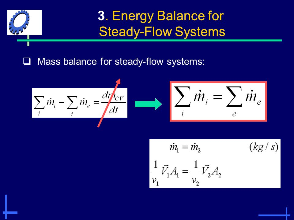 3. Energy Balance for Steady-Flow Systems